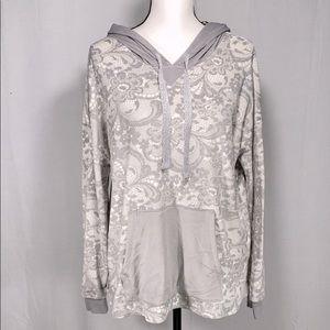 Simply Vera Wang loungewear Velour Hoodie L